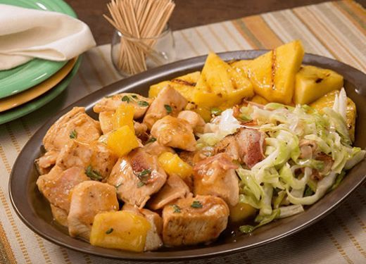 Pollo tropical con piña